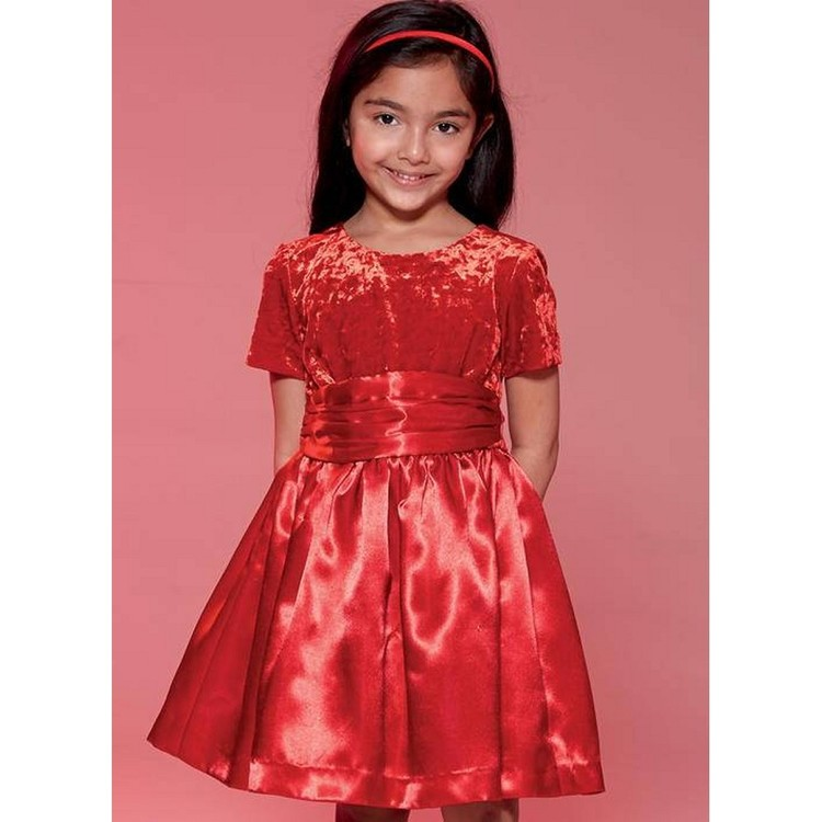 McCalls M7648 Childrens'/Girls' Gathered Dresses with ...
