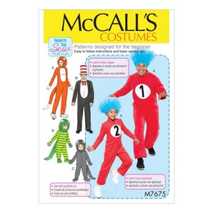 McCall's Pattern M7675 Adult/Child/Boy's/Girl's Costumes