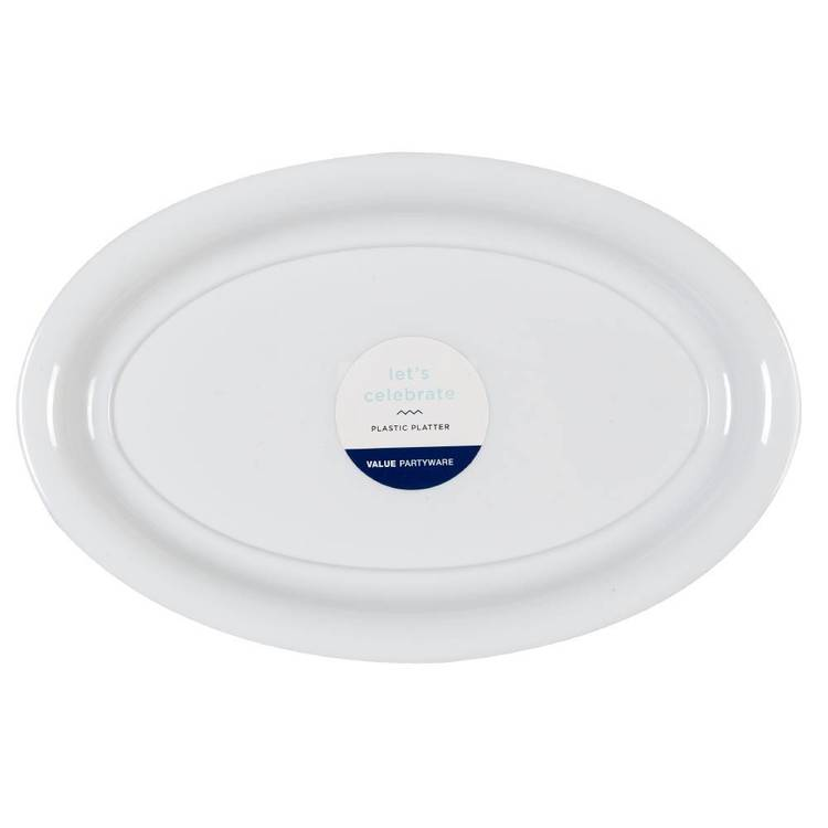 Oval Platter White  White 42 x 27 cm - Everyday Bargain