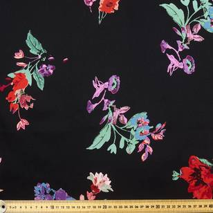 Mexican Floral Printed Cotton Sateen Fabric