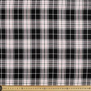 Poly Viscose Liverpool Check Fabric
