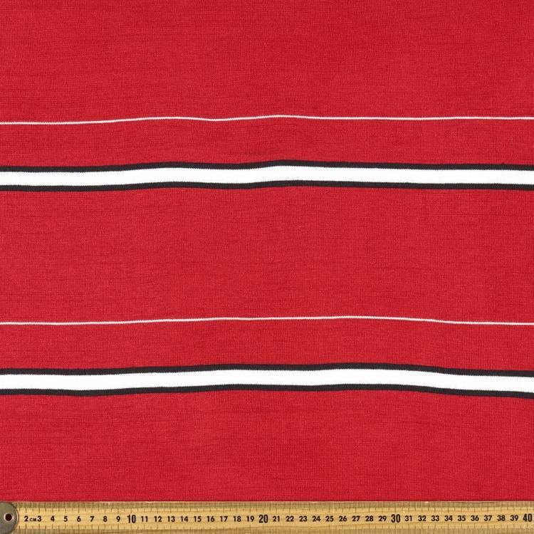 Striped Ribbing Fabric