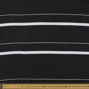 Striped Ribbing Lurex Fabric