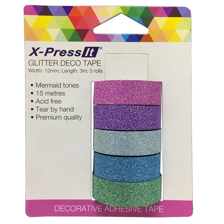 X-Press It Glitter Tape 5 Pack
