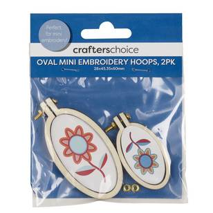Crafters Choice Oval Mini Embroidery Hoops