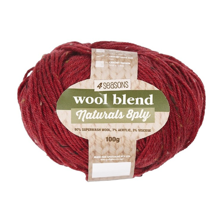 4 Seasons Naturals 8 Ply Wool Blends 100 g Yarn