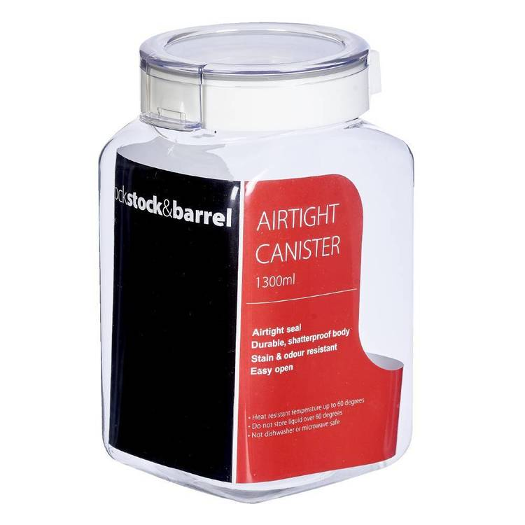 Lock Stock & Barrel Airtight Canister Storage Clear