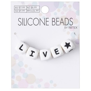 Ribtex Square Live Star Silicone Beads