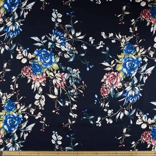 Free Floral Printed Cotton Sateen Fabric