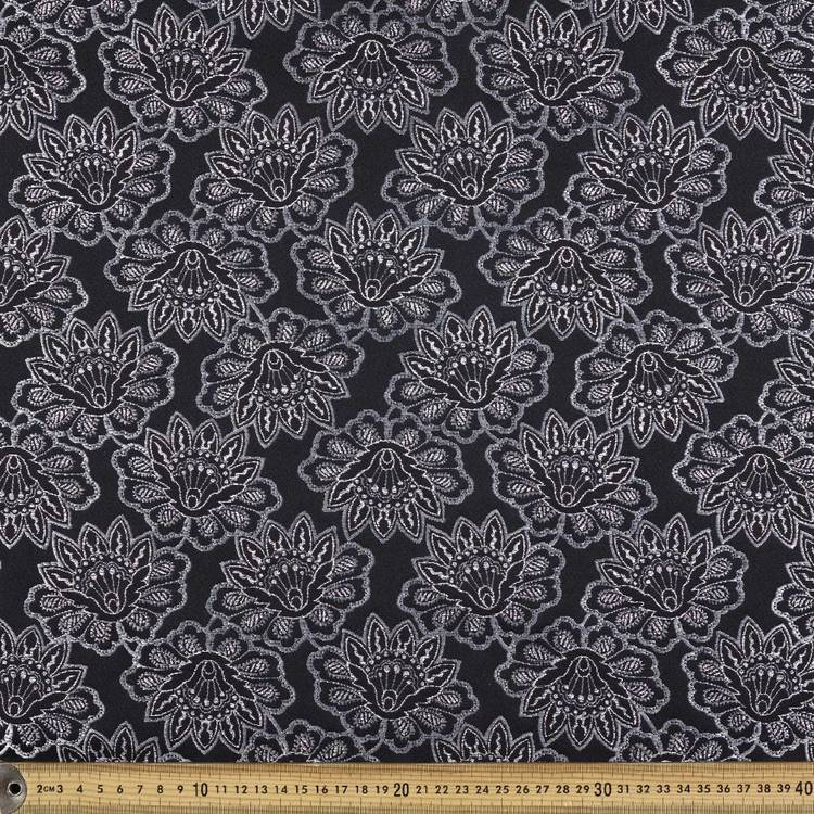 Indian Flower Printed Jacquard Fabric