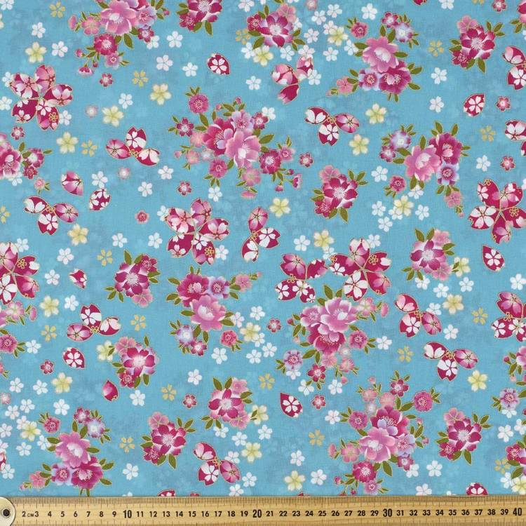 Oriental Cherry Blossom Fabric