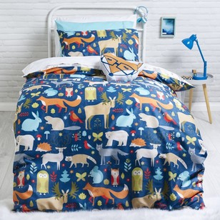 Ombre Blu Woodlands Quilt Cover Set