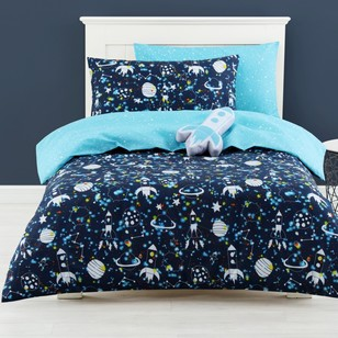 Ombre Blu Outer Space Quilt Cover Set