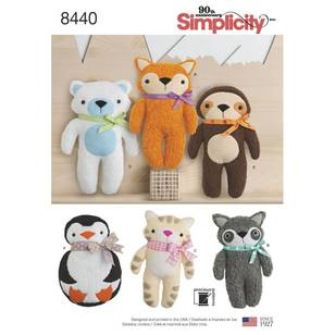 Simplicity Pattern 8440 Stuffed Animals