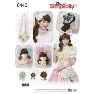 Simplicity 8443 Misses' Hair Accessories, Purses and Medallions