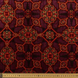 Persian Geometric Patterns Printed Velvet Fabric