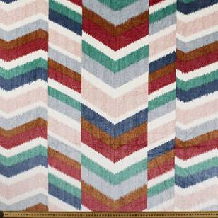 Printed Velvet Chevron 148 cm Fabric