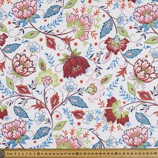Printed Poly Twill Jacobean Fabric
