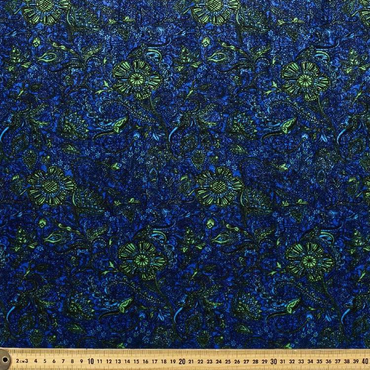 Printed Velvet #3 Floral 148 cm Fabric