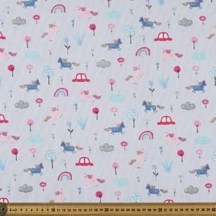 Printed Pinwale Cord Magic Meadow 112 cm Fabric
