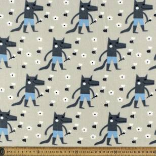 Isaform Wolves Printed Micro Fleece Fabrics