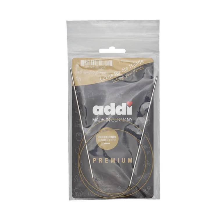 Addi Circular Metal Knit Needle 80 cm