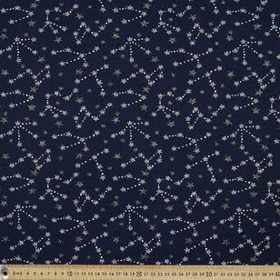 Printed Cotton Spandex Stars 150 cm Fabric