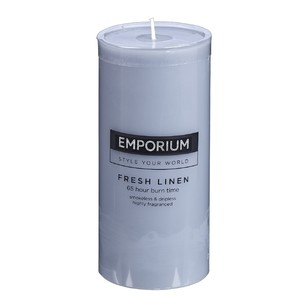 Emporium Fresh Linen Scented Pillar Candle