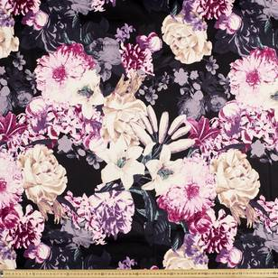 Printed Cotton Sateen Winter Floral 127 cm Fabric