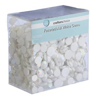 Crafters Choice Faceted White Gems