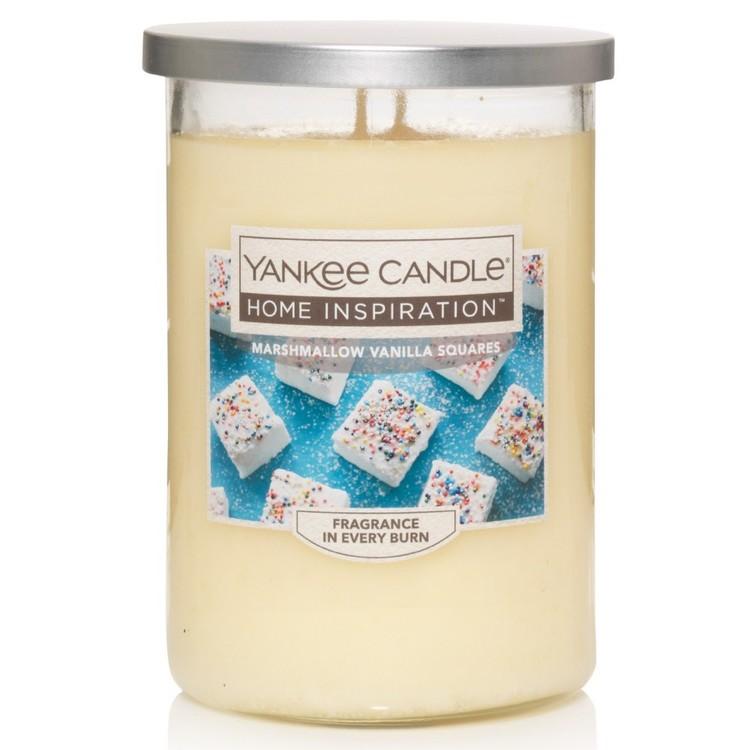 Yankee Candle Home Inspiration Large Tumbler Jar Marshmallow Vanilla Squares