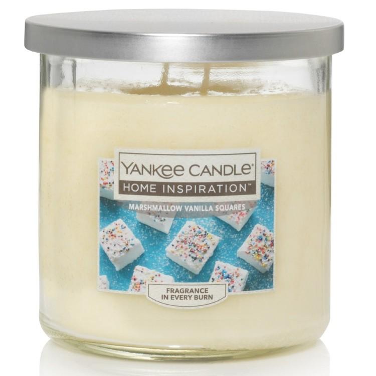 Yankee Candle Home Inspiration Medium Tumbler Jar Marshmallow Vanilla Squares