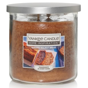 Yankee Candle Home Inspiration Medium Tumbler Jar Banana Walnut Bread