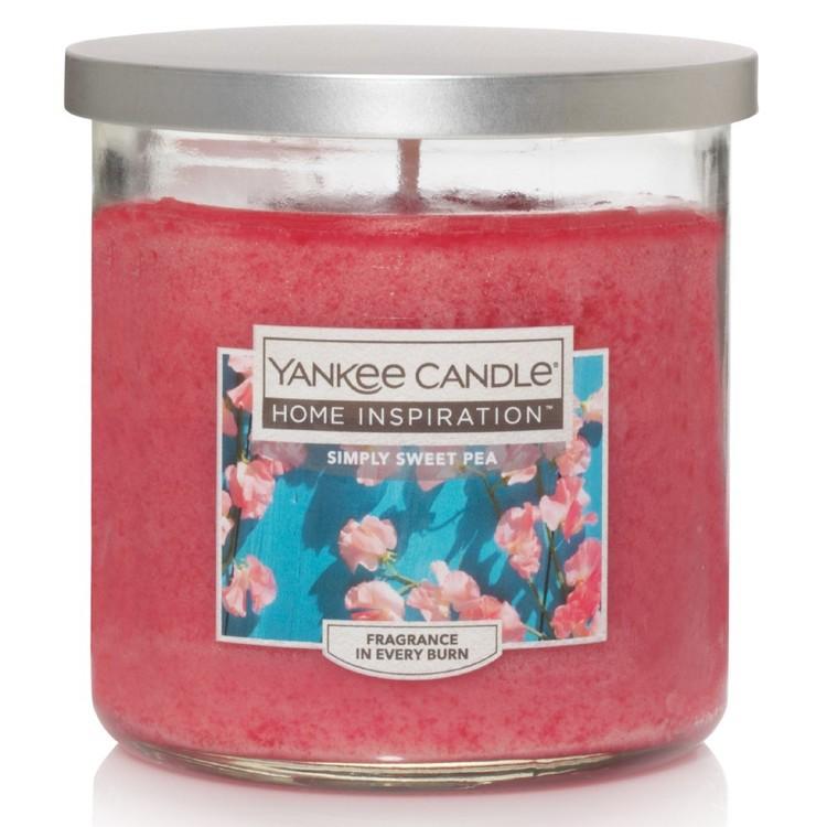 Yankee Candle Home Inspiration Medium Tumbler Jar Simply Sweet Pea
