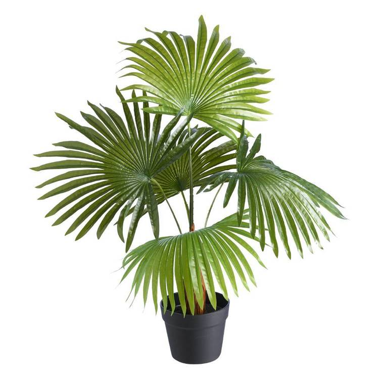 Botanica Artificial Palm Potted Plant Green