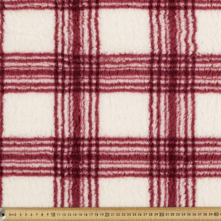 Printed Cuddle Checks Fleece Fabric