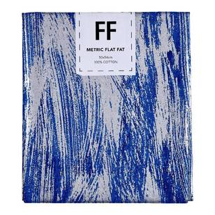 Fabric Editions Flat Fats metallic Texture Blue Smear