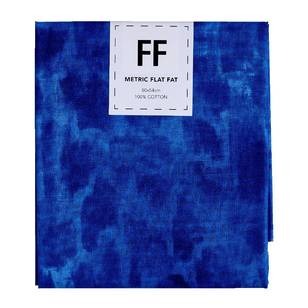 Fabric Editions Flat Fats Metallic Textured Blue Paint