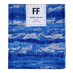 Fabric Editions Flat Fats metallic Texture Blue Wood