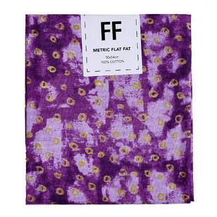 Fabric Editions Flat Fats metallic Texture Purple Circles