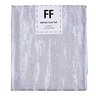 Fabric Editions Flat Fats metallic Texture White Smear