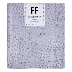 Fabric Editions Flat Fats metallic Texture White Dots