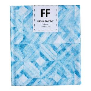 Fabric Editions Flat Fats metallic Texture Turquoise Diamond