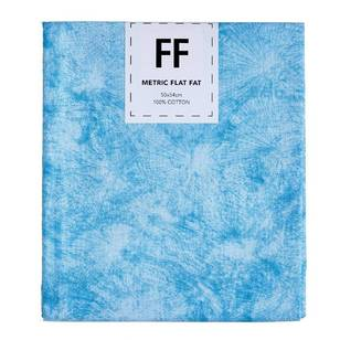 Fabric Editions Flat Fats metallic Texture Turquoise Burst