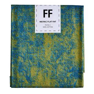 Fabric Editions Flat Fats metallic Texture Turquoise Hatch