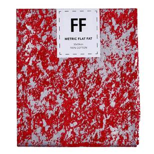 Fabric Editions Flat Fats metallic Texture Red Crackle