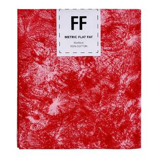 Fabric Editions Flat Fats metallic Texture Red Burst