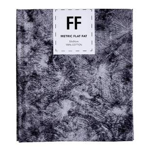 Fabric Editions Flat Fats metallic Texture Black Burst