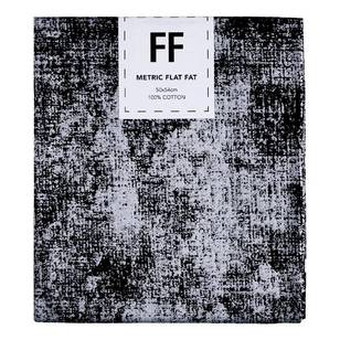 Fabric Editions Flat Fats metallic Texture Black Hatch