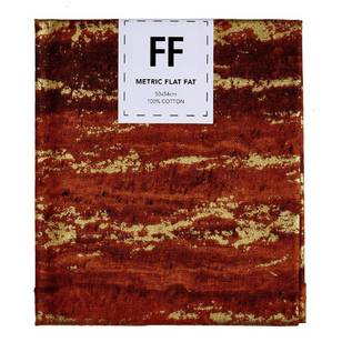 Fabric Editions Flat Fats metallic Texture Burnt Wood